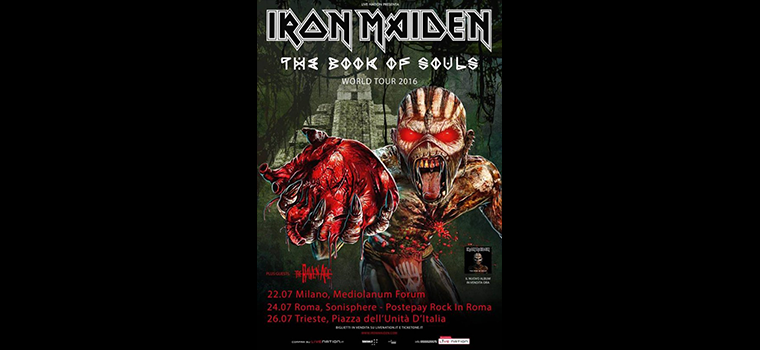 Iron Maiden: tre date in Italia!
