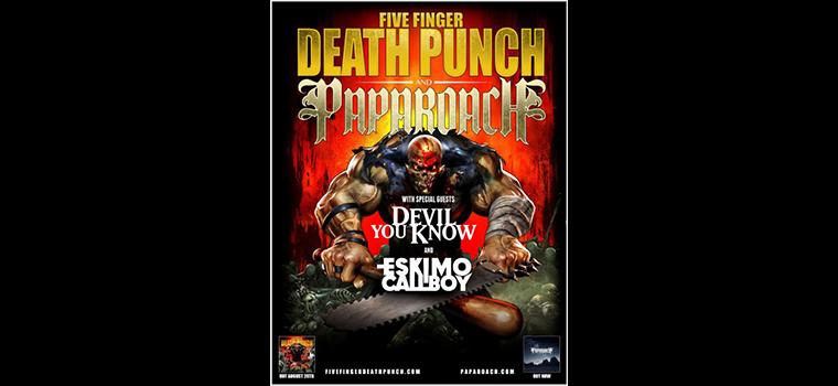 Five Finger Death Punch, PAPA ROACH: dettagli sul rimborso biglietti per la data di Milano