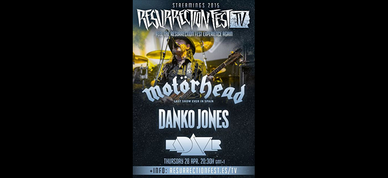 MOTÖRHEAD, DANKO JONES, KADAVAR: lo show del Ressurrection fest 2015 in streaming