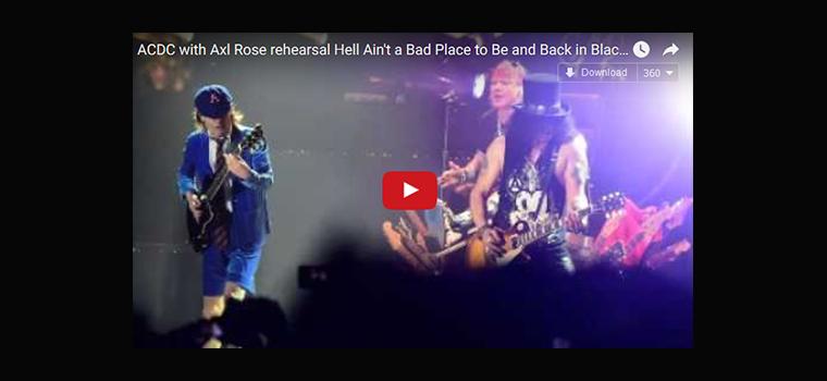 AC/DC: altri audio amatoriali delle prove con Axl Rose